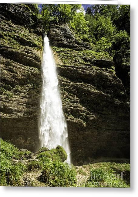 Pericniku Falls Slovenia Greeting Card