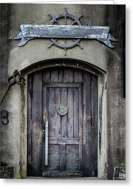 Greeting Card featuring the photograph Perkins And Sons Door by Randy Bayne