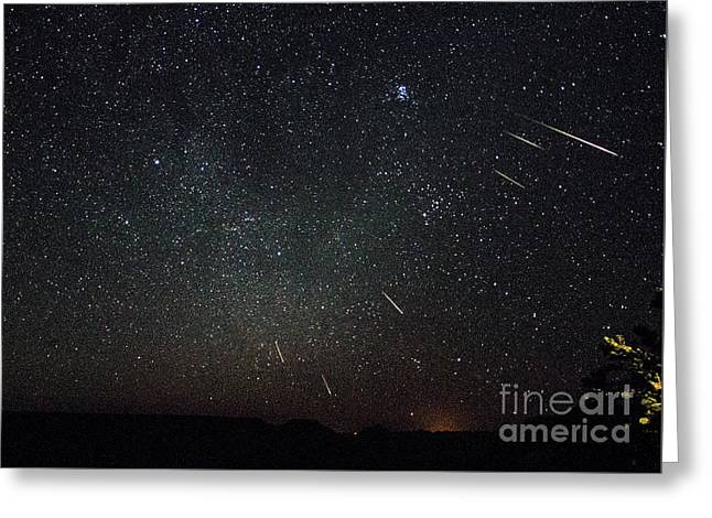Perseid Meteor Shower Greeting Card