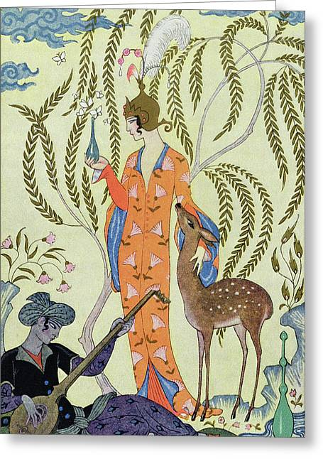 Persia Greeting Card by Georges Barbier