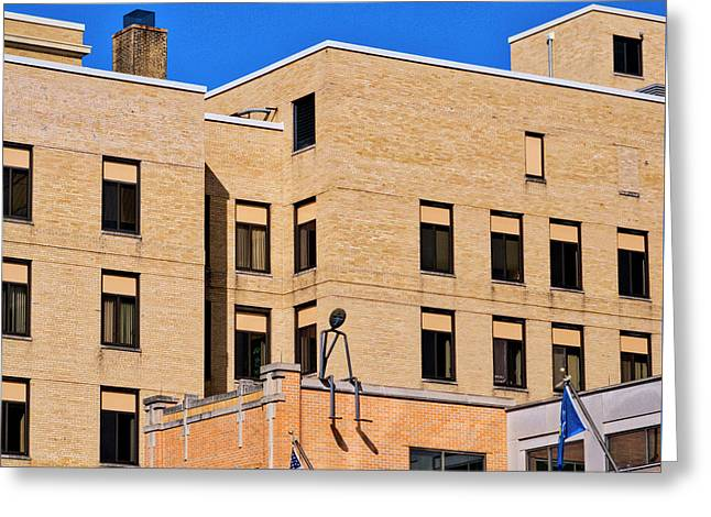 Person On Building 2 - Madison - Wisconsin Greeting Card