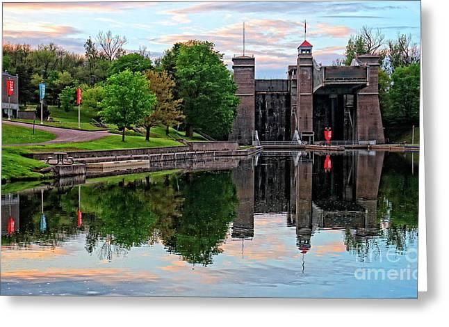 Peterborough Lift Lock National Historic Site Greeting Card