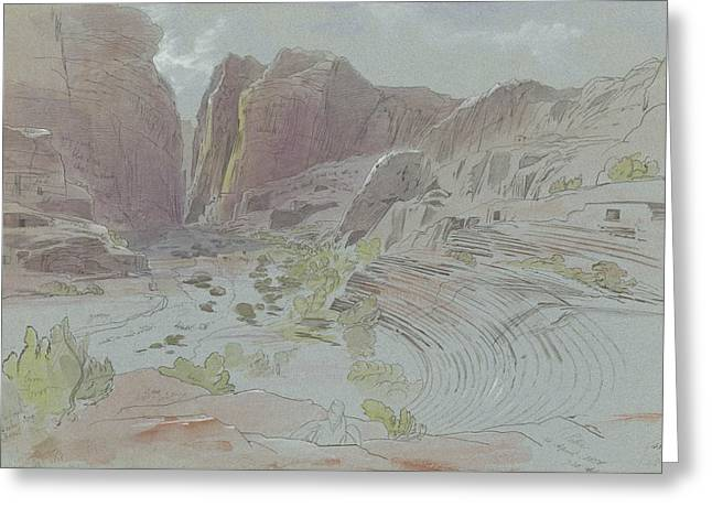 Petra, April 14, 1858 Greeting Card by Edward Lear