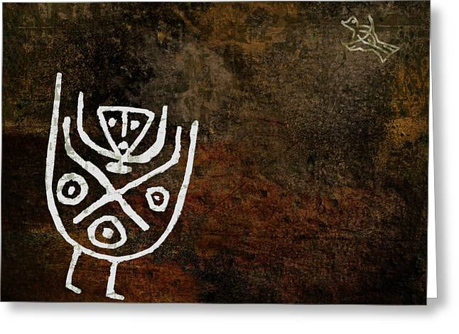 Petroglyph 4 Greeting Card