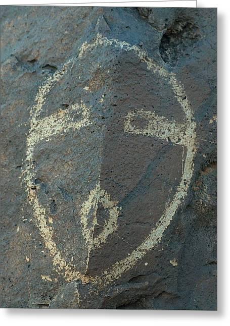 Petroglyph Series 5 Greeting Card by Tim McCarthy