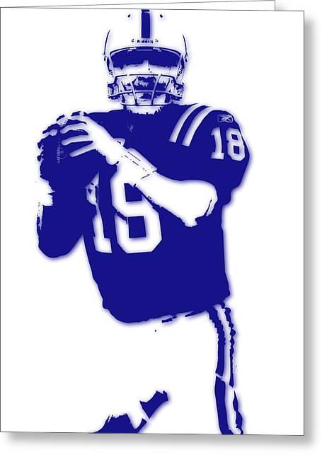 Peyton Manning Colts Greeting Card by Joe Hamilton