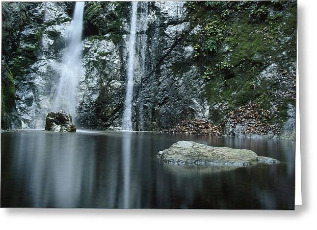 Pfeiffer Falls - Big Sur Greeting Card by Soli Deo Gloria Wilderness And Wildlife Photography