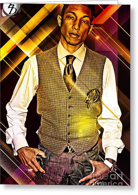 Hiphop Greeting Cards - Pharrell Greeting Card by The DigArtisT