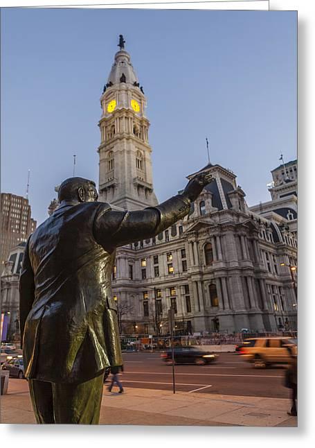Philadelphia City Hall Greeting Card by Richard Nowitz
