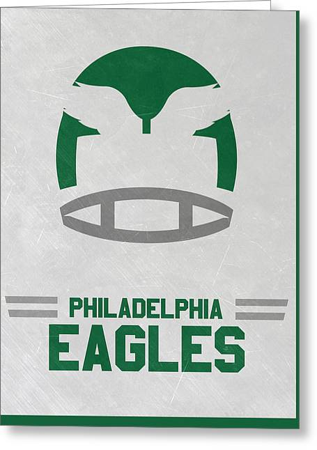 Philadelphia Eagles Vintage Art Greeting Card by Joe Hamilton
