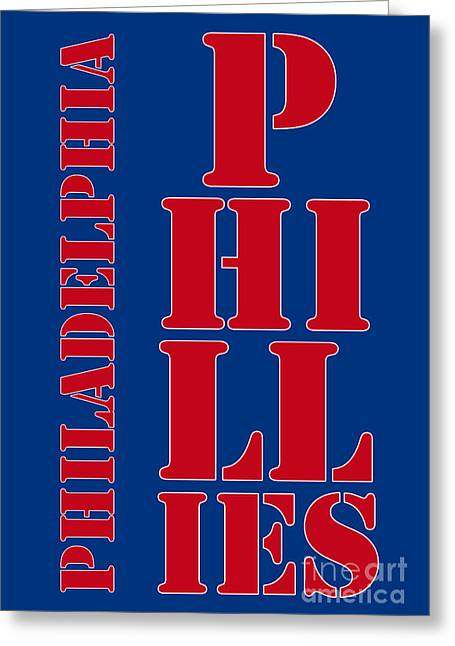 Philadelphia Phillies Typography Greeting Card by Pablo Franchi