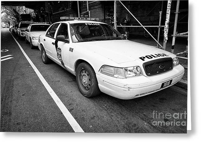 Philadelphia Police Ford Crown Vic Cruiser Patrol Car Vehicle Usa Greeting Card
