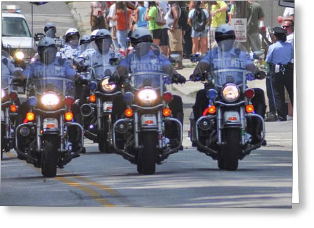 Philadelphia - Police Motorcycle Unit Greeting Card