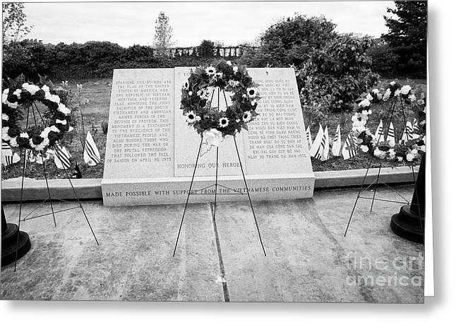 Philadelphia Republic Of South Vietnam Freedom And Heritage Flag Monument Memorial Usa Greeting Card