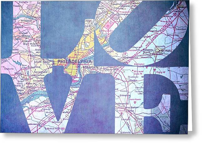 Philly Love V11 Greeting Card by Brandi Fitzgerald