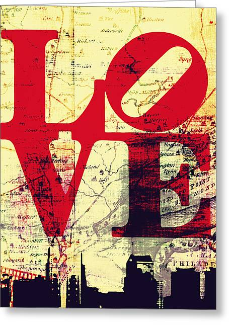 Philly Love V9 Greeting Card by Brandi Fitzgerald
