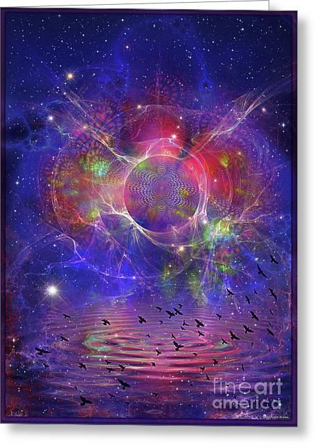 Photon Rings Greeting Card