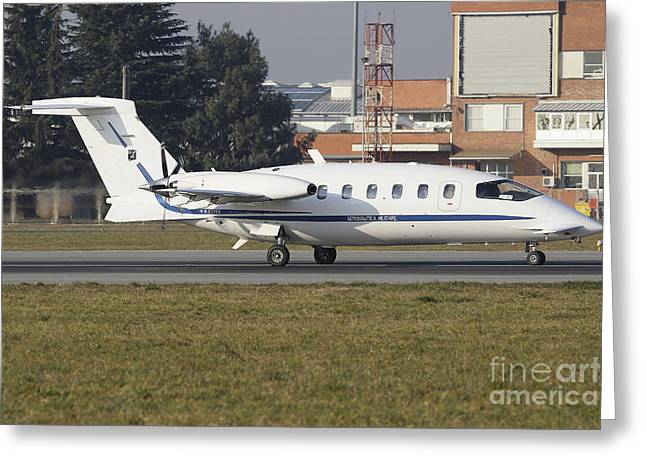 Piaggio P180 Avanti Of The Italian Air Greeting Card