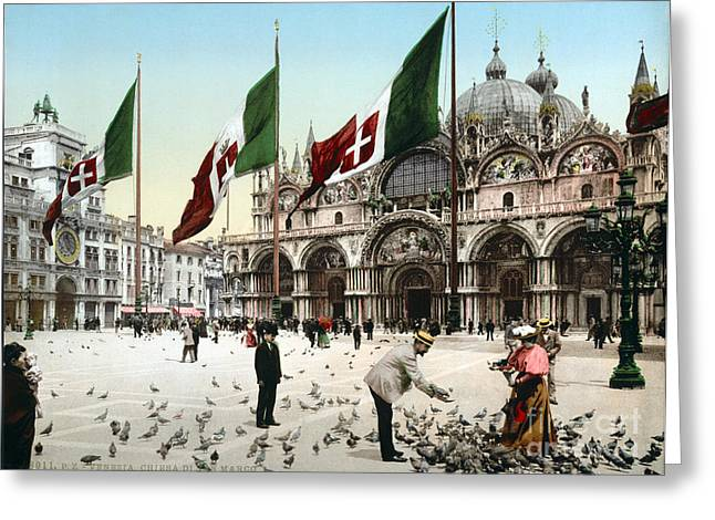 Piazza San Marco, 1890s Greeting Card