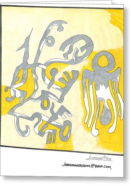 Picasso Painting Greeting Card by Jerry Conner