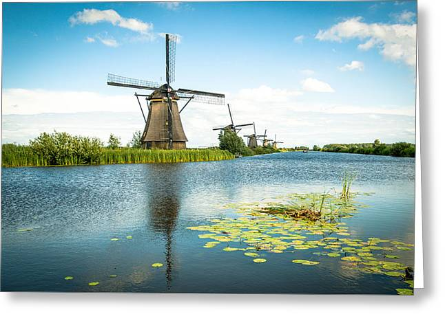 Greeting Card featuring the photograph Picturesque Kinderdijk by Hannes Cmarits
