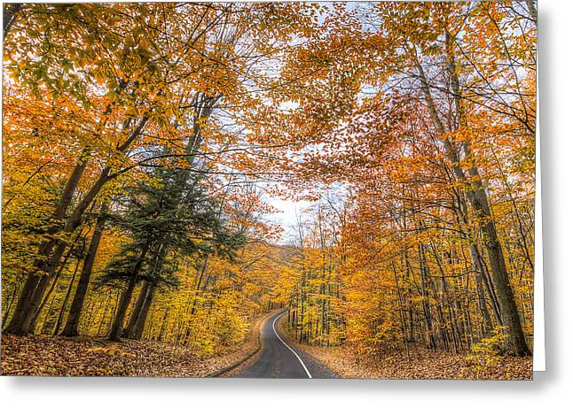 Pierce Stocking Drive In Fall Greeting Card by Twenty Two North Photography