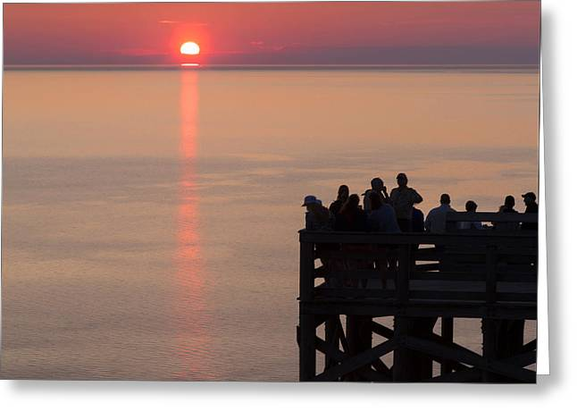 Pierce Stocking Overlook Sunset Greeting Card by Twenty Two North Photography