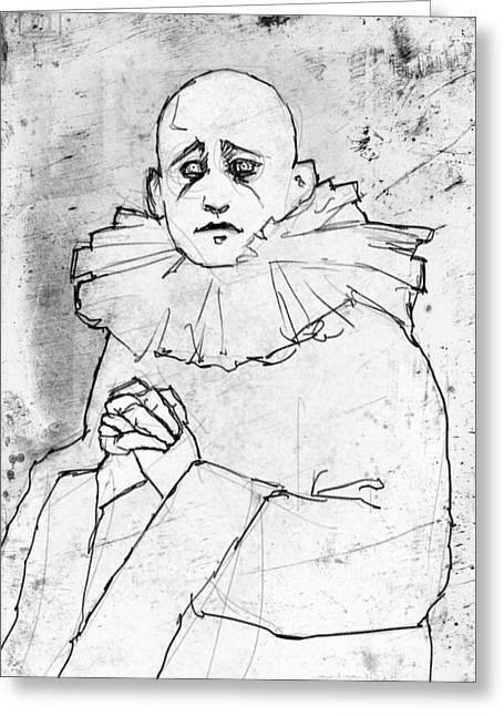 Pierrot Greeting Card