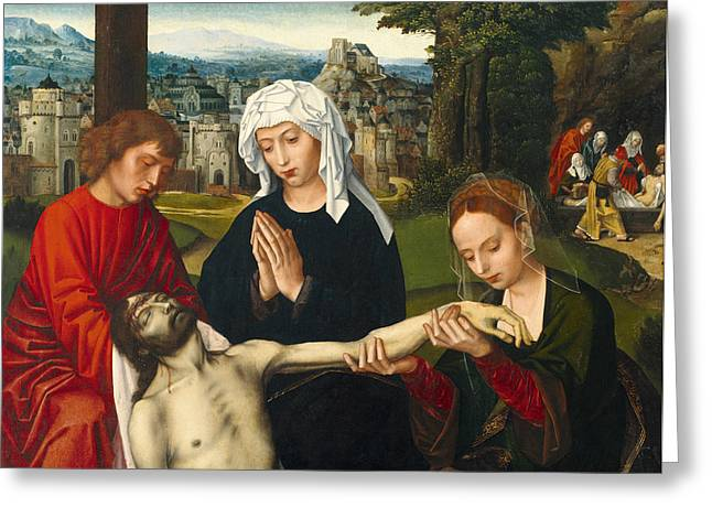 Pieta At The Foot Of The Cross Greeting Card by Ambrosius Benson