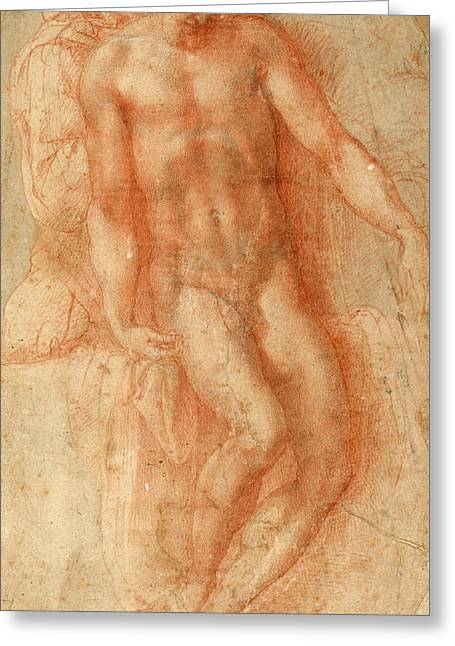 Pieta Greeting Card by Michelangelo Buonarroti