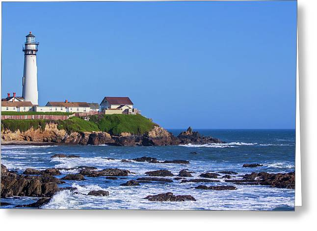 Greeting Card featuring the photograph Pigeon Point Lighthouse by Randy Bayne