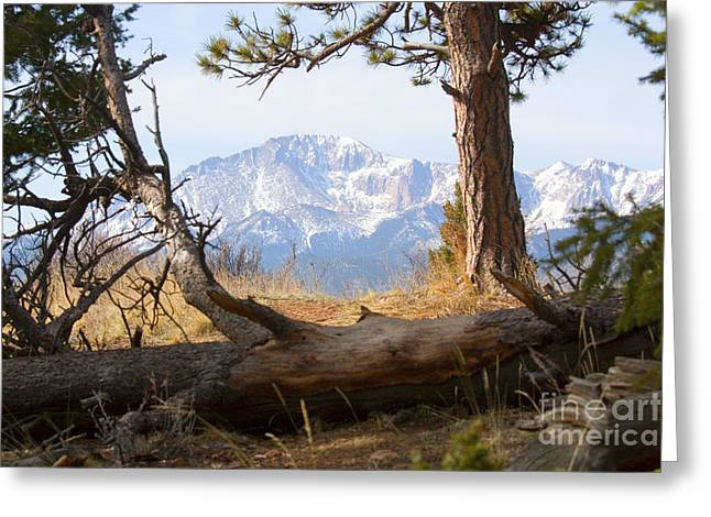 Pikes Peak And Trail To Bald Mountain Greeting Card