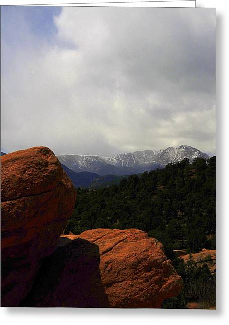 Pikes Peak Greeting Card by Patrick  Short