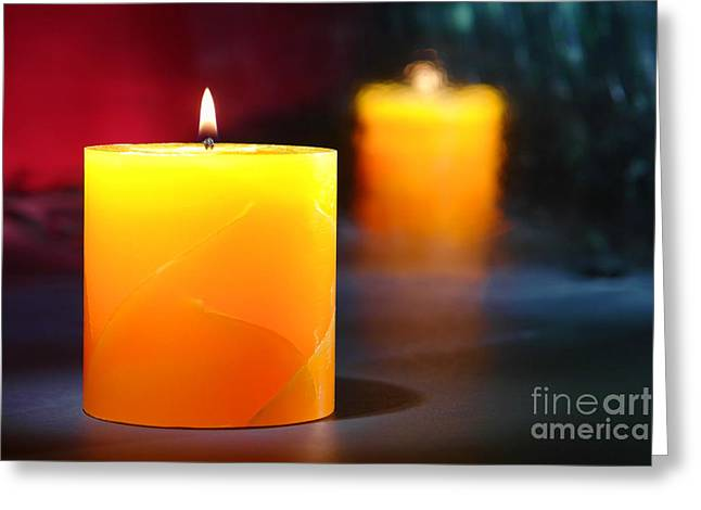 Pillar Candle Greeting Card