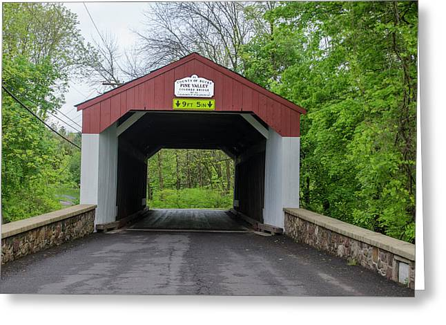 Pine Valley - Covered Bridge - Bucks County Pa Greeting Card