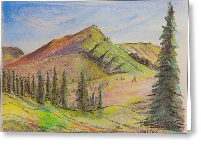 Pines On The Hills Greeting Card
