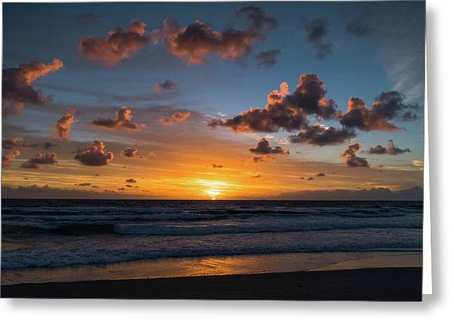 Pink Cloud Sunrise Delray Beach Florida Greeting Card