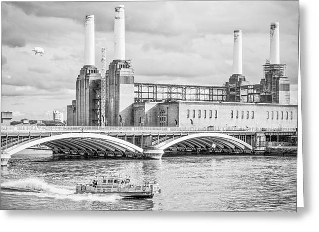Pink Floyd's Pig At Battersea Greeting Card by Dawn OConnor
