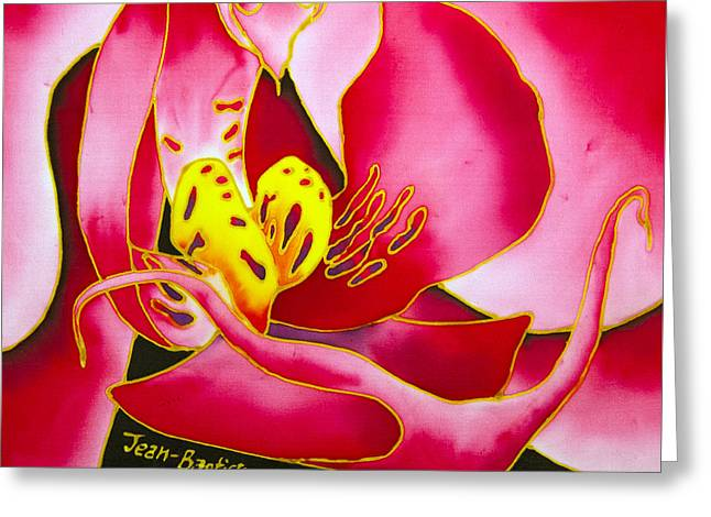 Pink Orchid Greeting Card by Daniel Jean-Baptiste