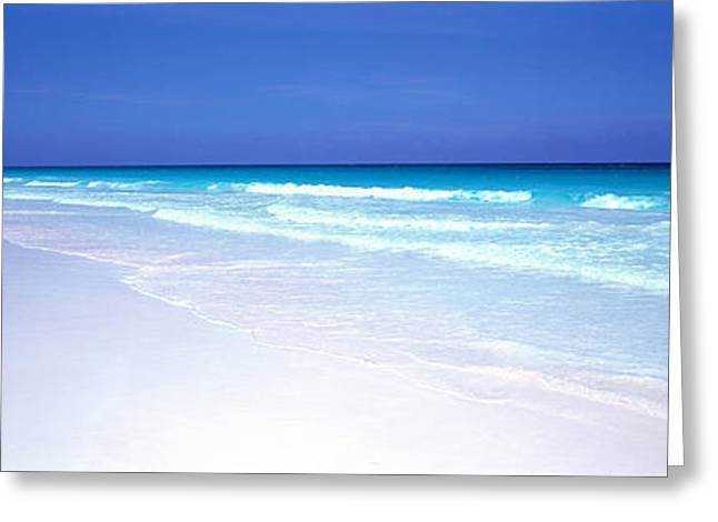 Pink Sand Beach Harbour Island Bahamas Greeting Card by Panoramic Images