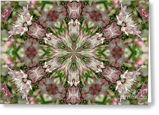 Pink Splash Kaleidoscope Greeting Card