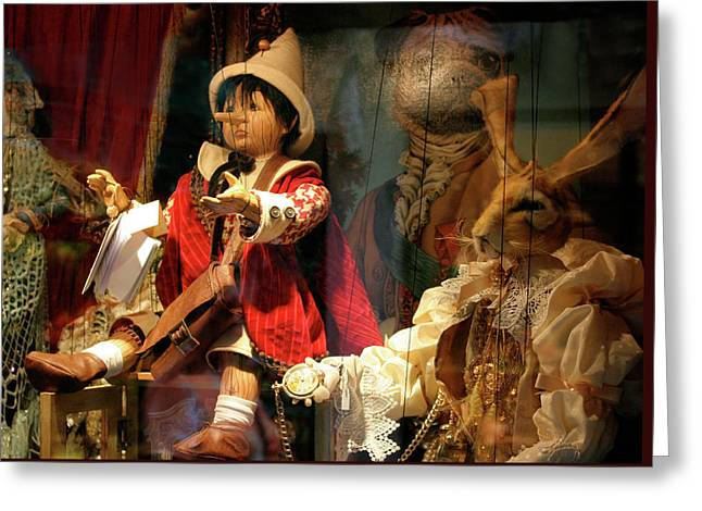 Pinocchio In Venice Greeting Card