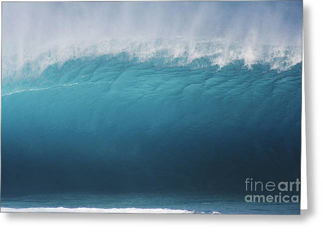 Pipeline Wave Breaking Greeting Card by Vince Cavataio - Printscapes
