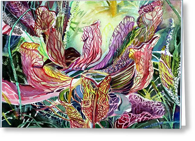 Pitcher Plants Greeting Card by Mindy Newman