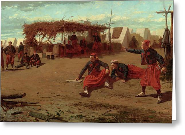 Pitching Quoits Greeting Card by Winslow Homer