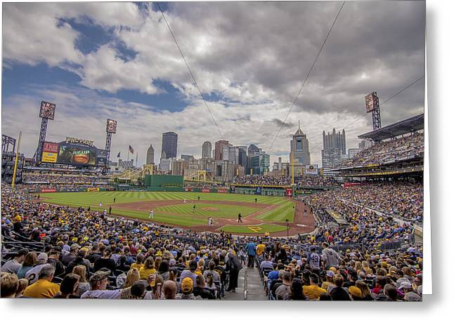 Pittsburgh Pirates Pnc Park Bucs Greeting Card by David Haskett