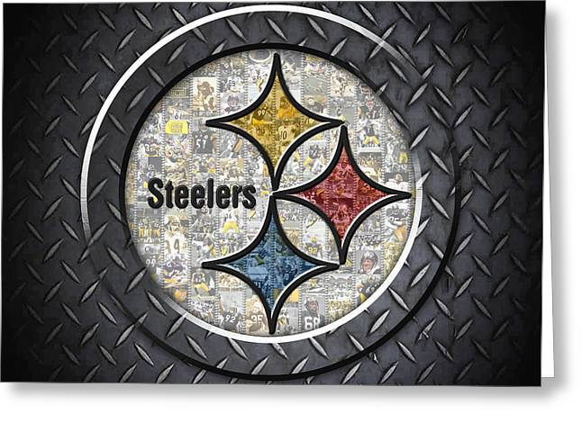 Pittsburgh Steelers Greeting Card by Fairchild Art Studio