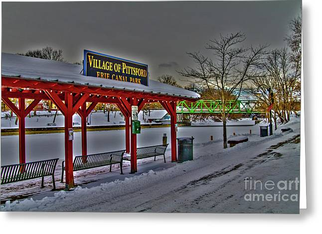 Pittsford Canal Park Greeting Card