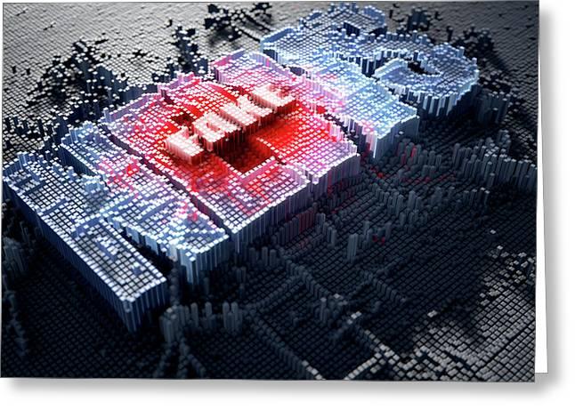 Pixel Fake News Greeting Card