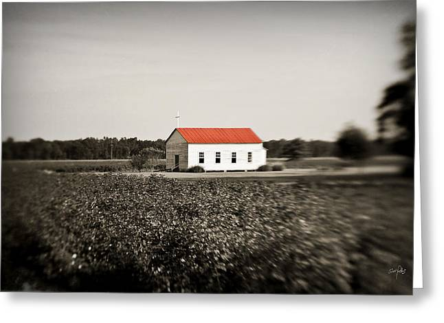 Plantation Church Greeting Card by Scott Pellegrin